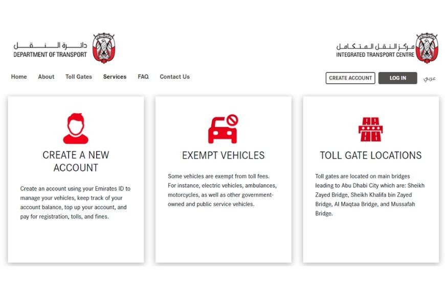 How to Register for Abu Dhabi Road Tolls
